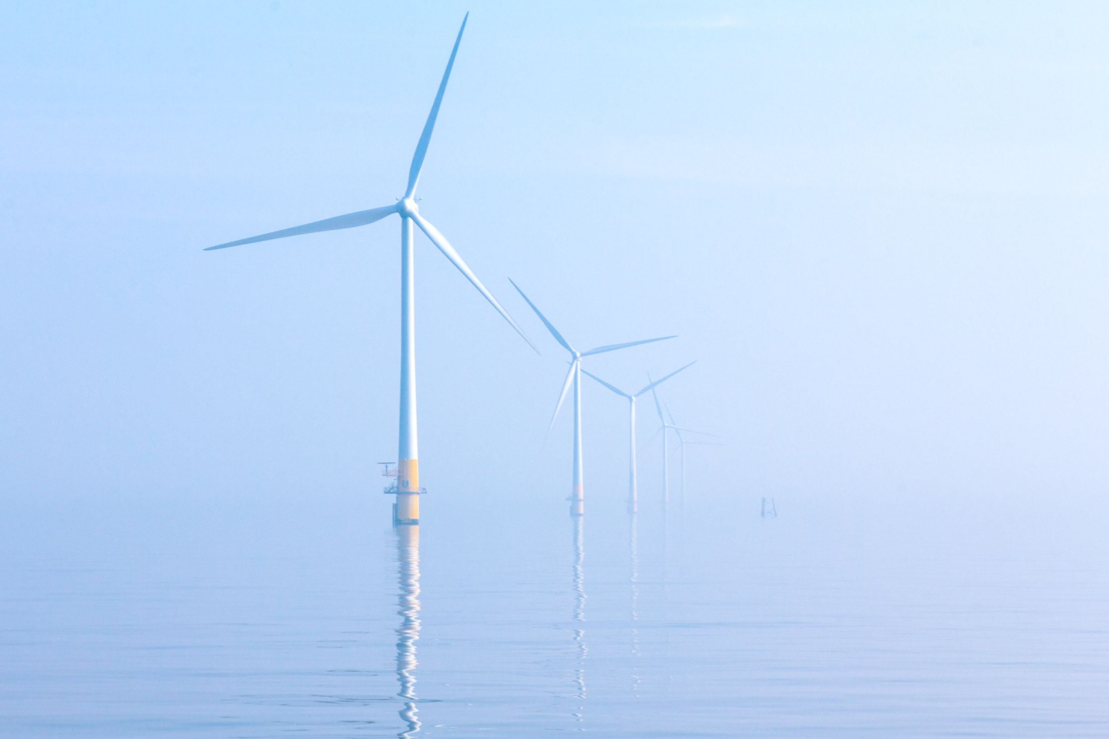 OFF SHORE WIND FARM, NORFOLK COAST - MARCH 03, 2012